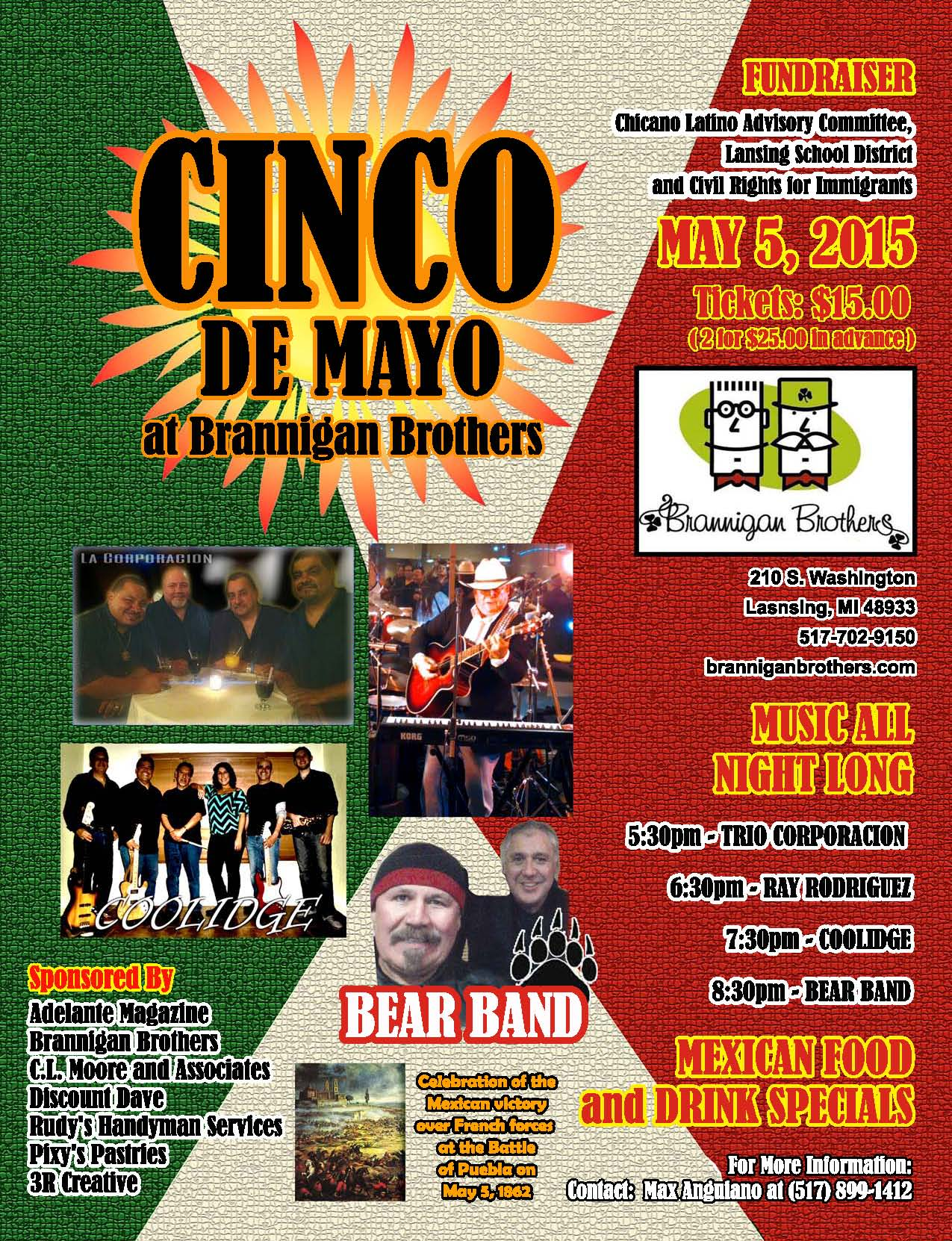 Join #LansingLatinos and community friends to support TWO great causes May 5!