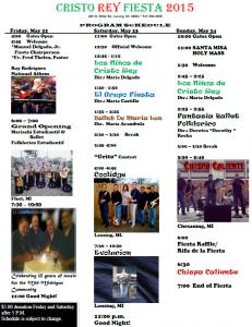 fiesta 2015 schedule